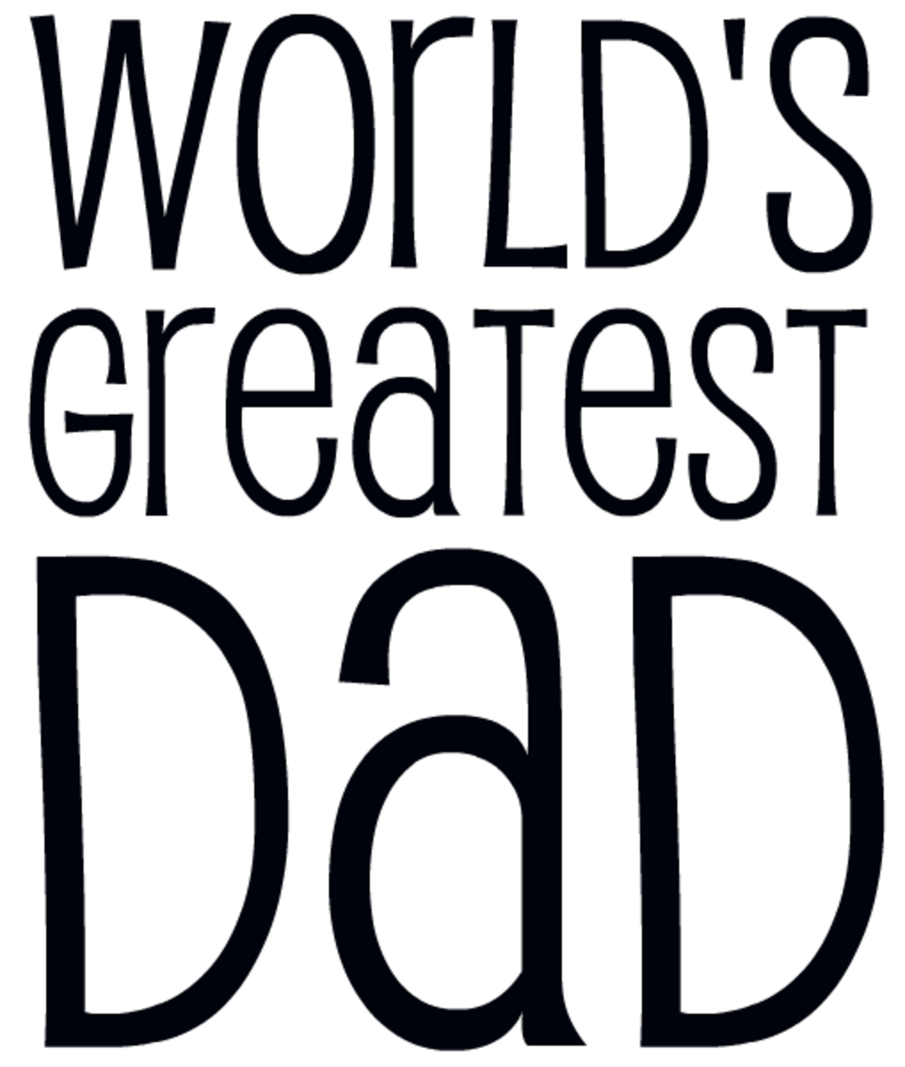 World's Greatest Dad Father's Day clip art -- black