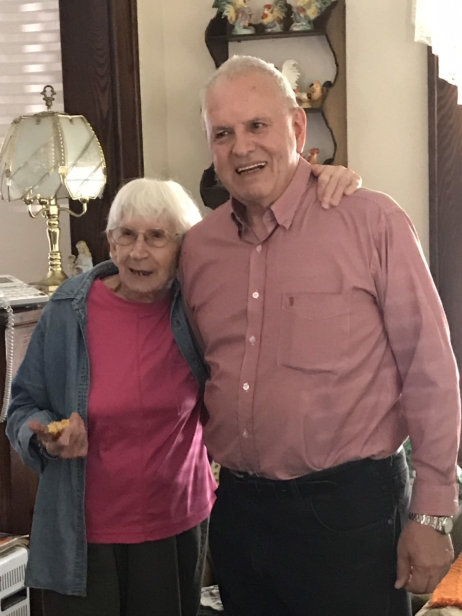 The author with Aunt Sissy.  Picture taken in June 2019.