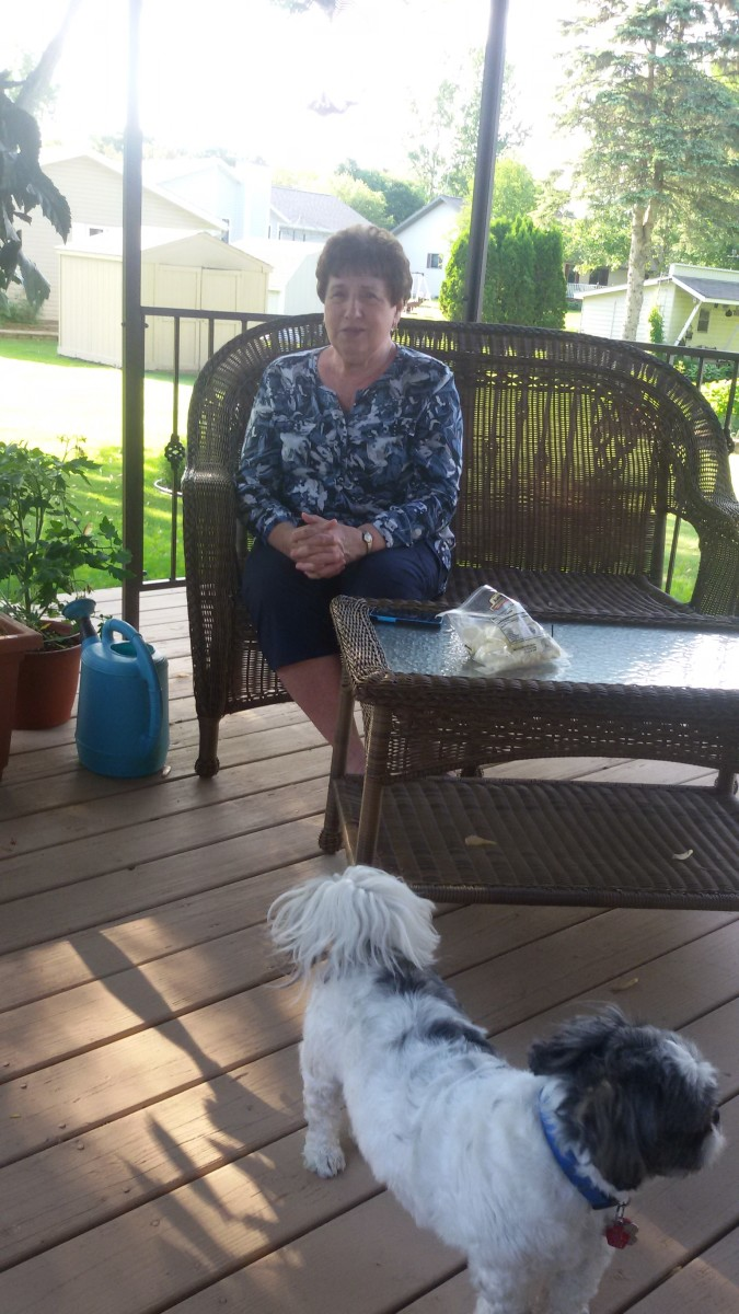 Aunt Mary siting in her home.  Picture taken in June  2019.