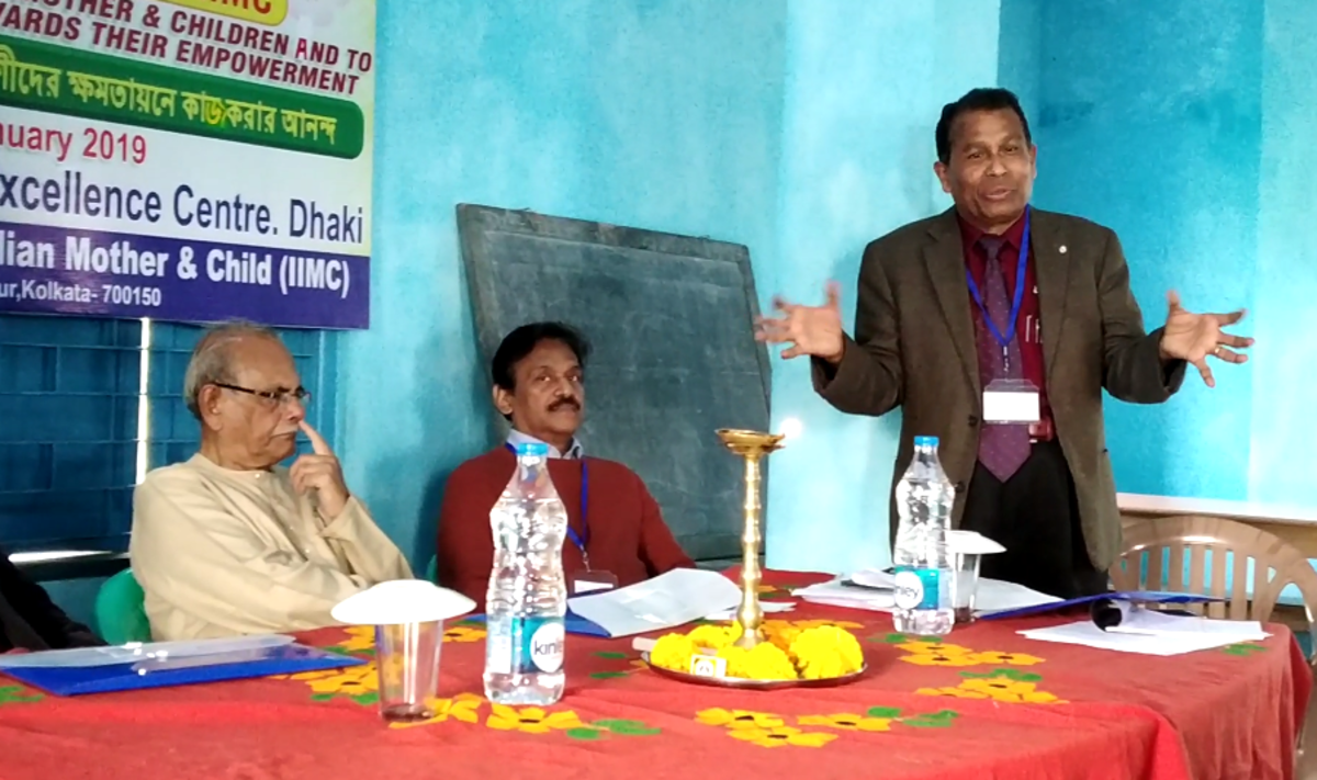 Dr. Sujit Brahmochary makes his concluding comments.