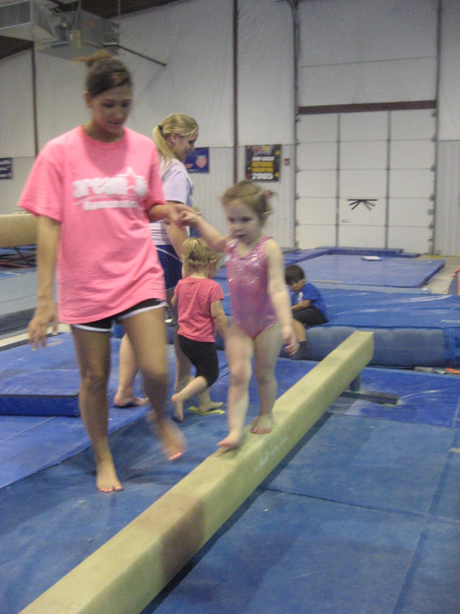 Brooklynn loves her coach.