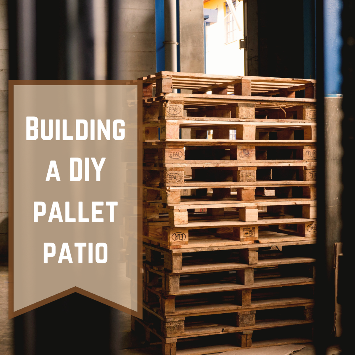 Learn how to create your very own wood pallet patio