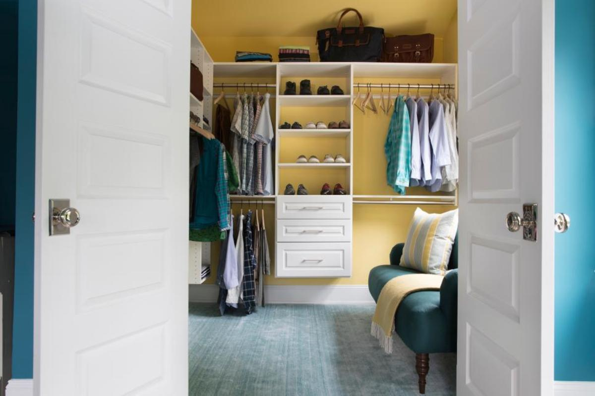 The dream master bedroom closet in the design.