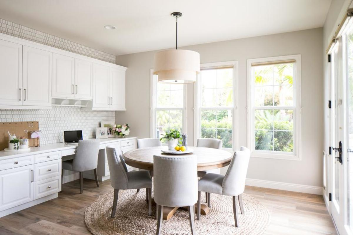 The white, beige and gray paint shades. We love and how you can use them.
