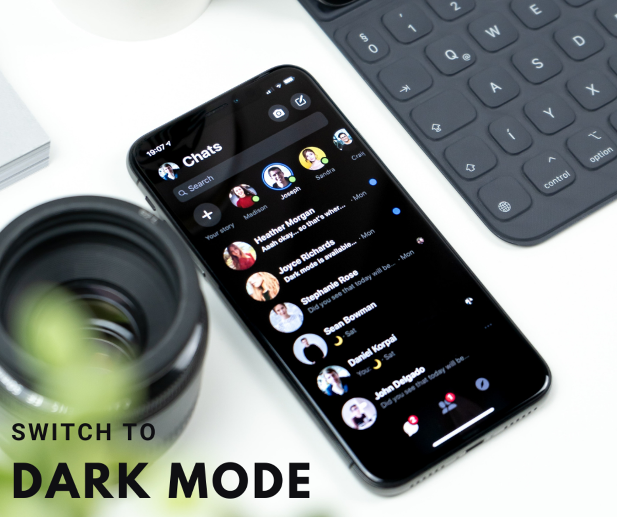 """""""Dark Mode"""" is said to help extend battery life."""