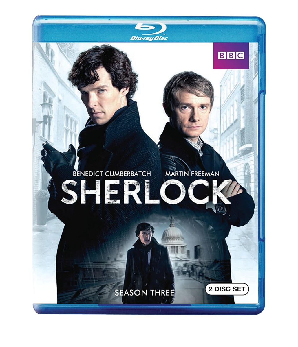 """""""Sherlock"""" Series 3 official blu-ray cover."""