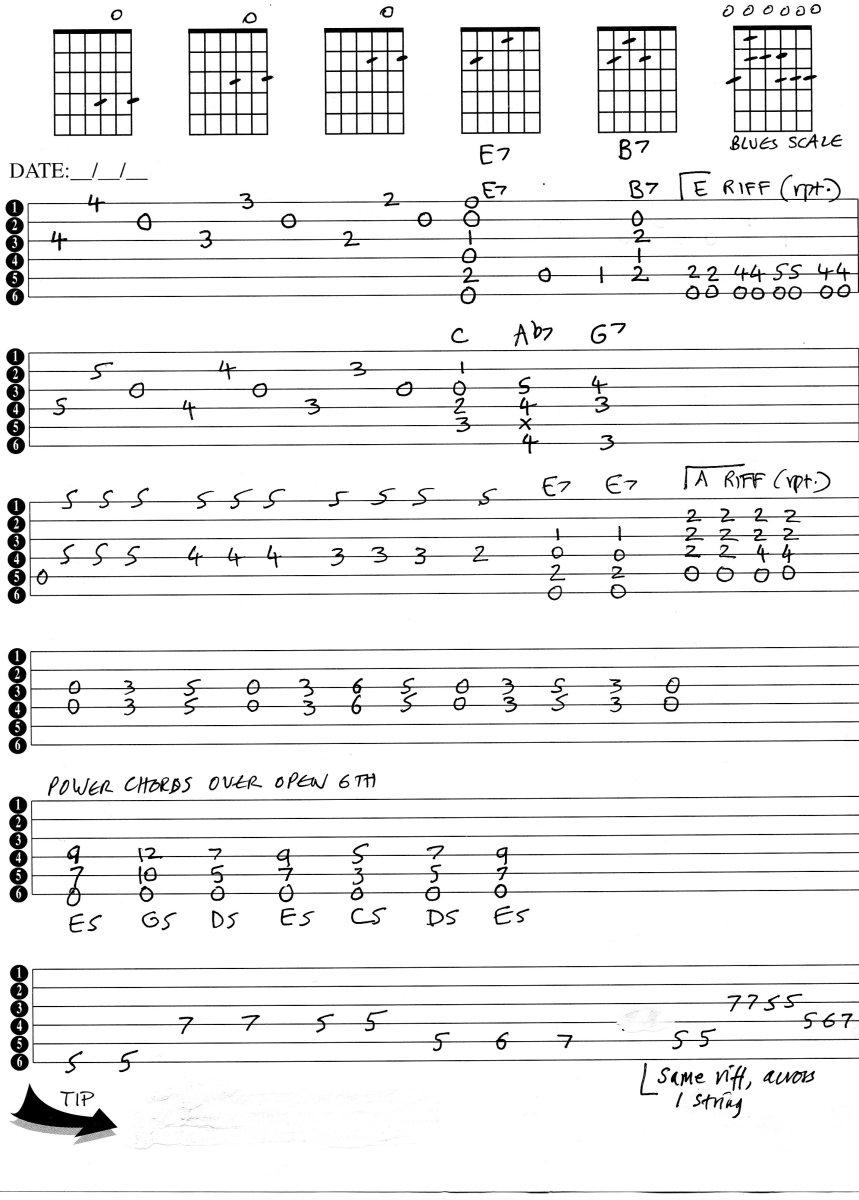 guitar-tab-blues-intros-riffs-lesson