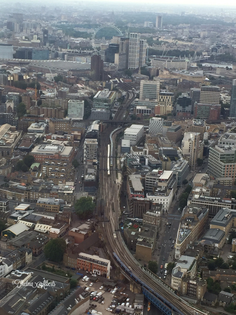 Central London, a view from The Shard.