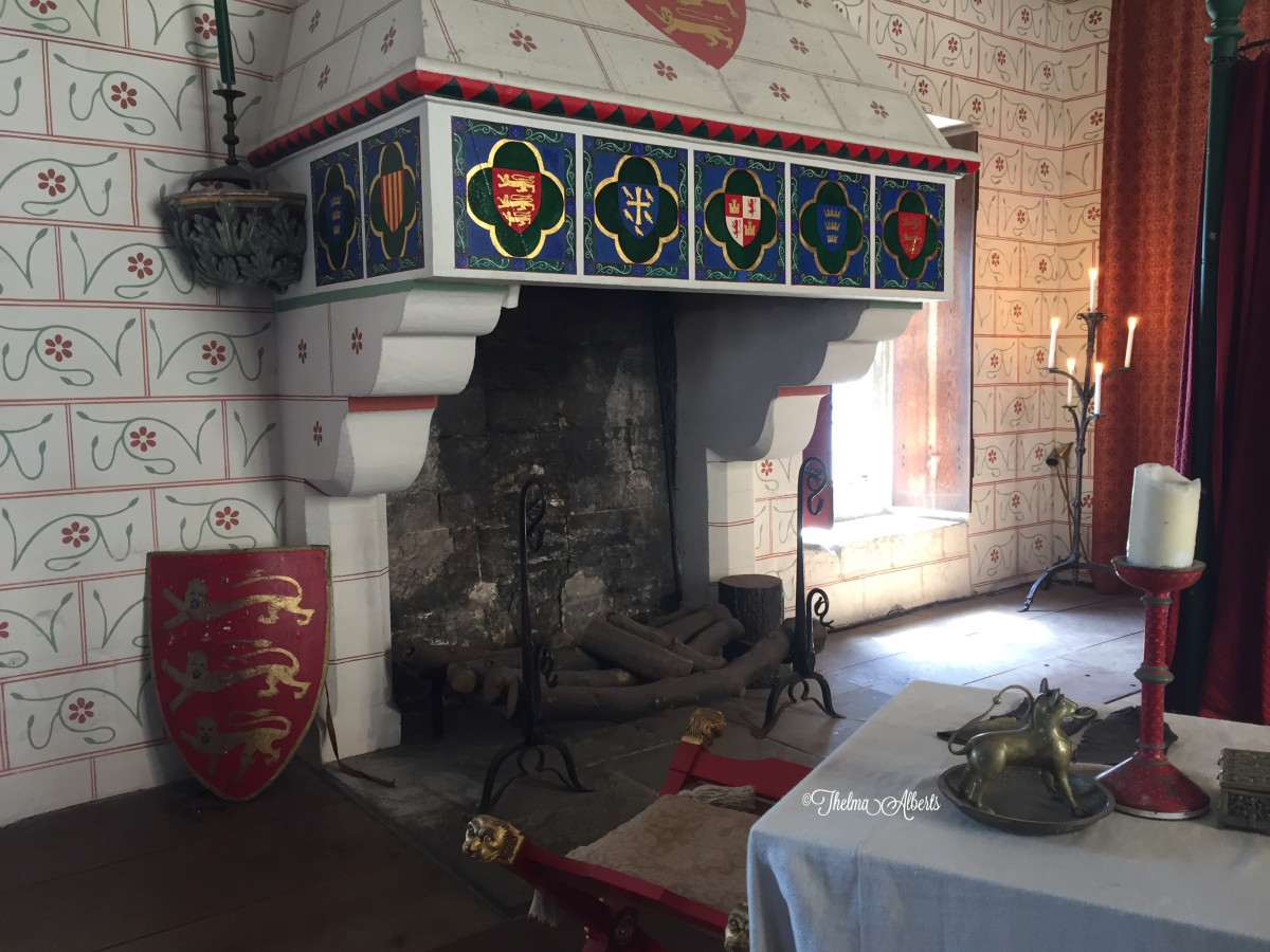 The fireplace in the chamber of the late King Edward 1.