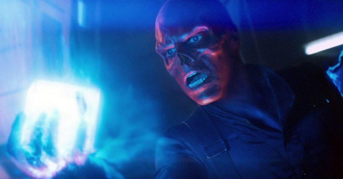The Red Skull holding the Cosmic Cube