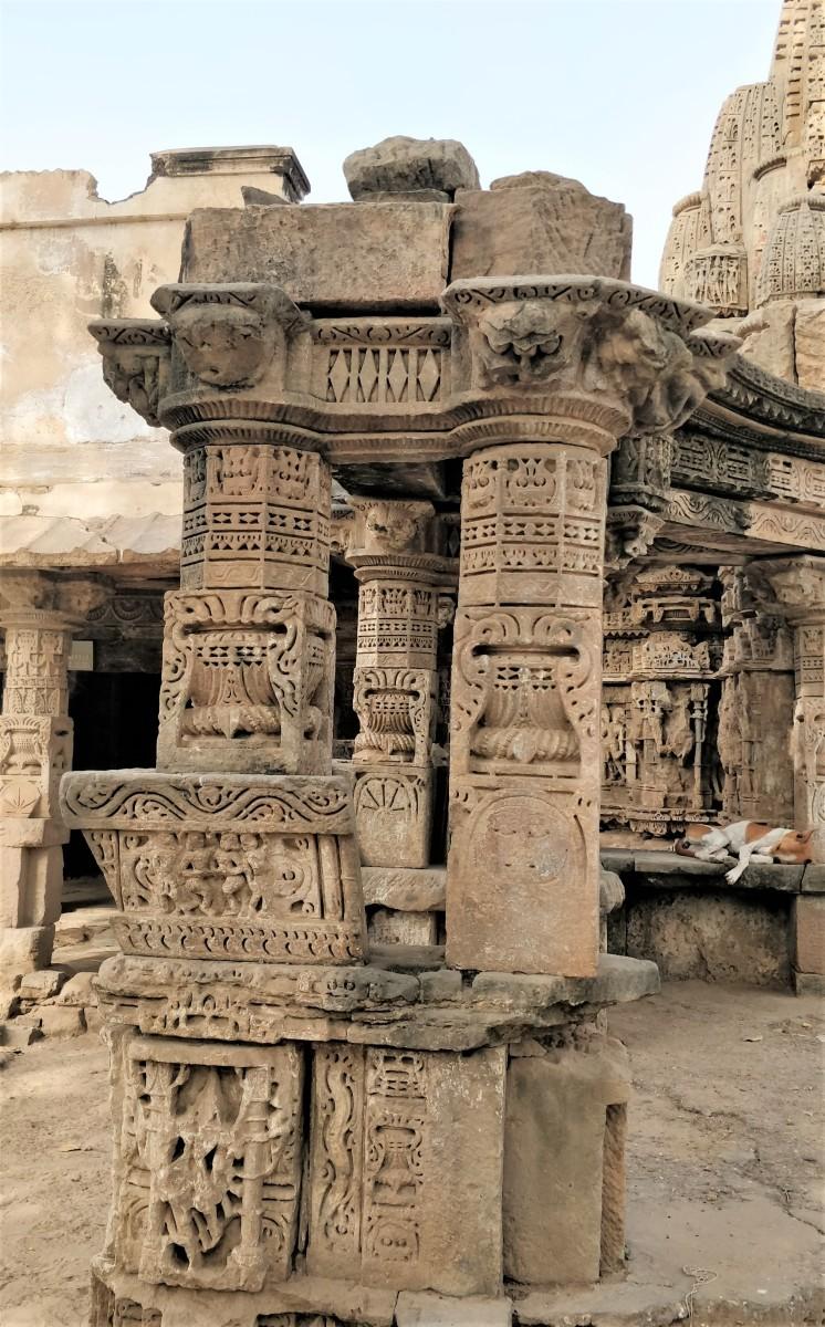 A portion of Rudra Mahalaya temple