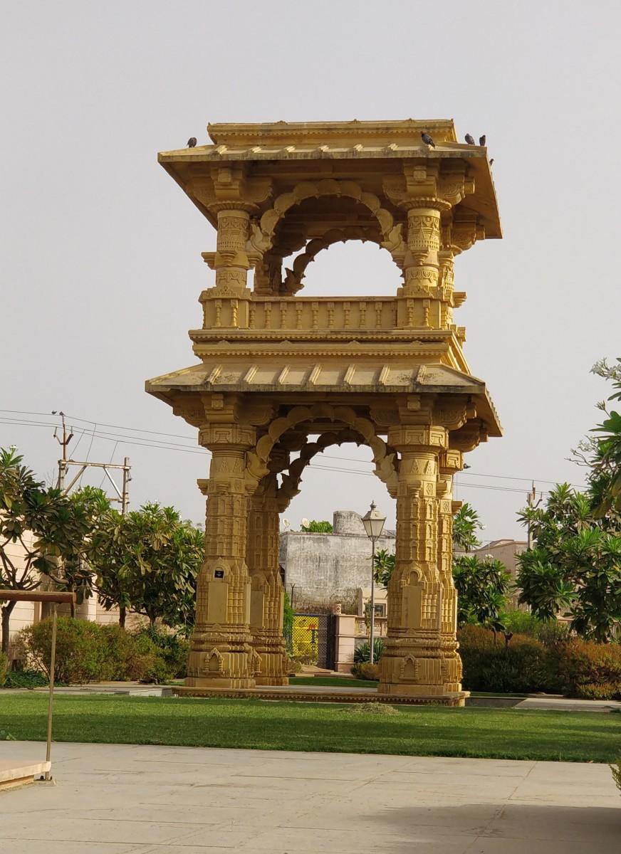 Scaled down replica of the Torana of Rudra Mahalaya temple