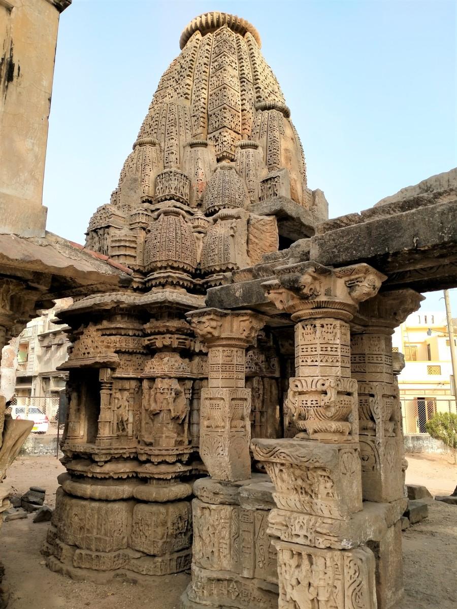 An intact portion of Rudra Mahalaya temple