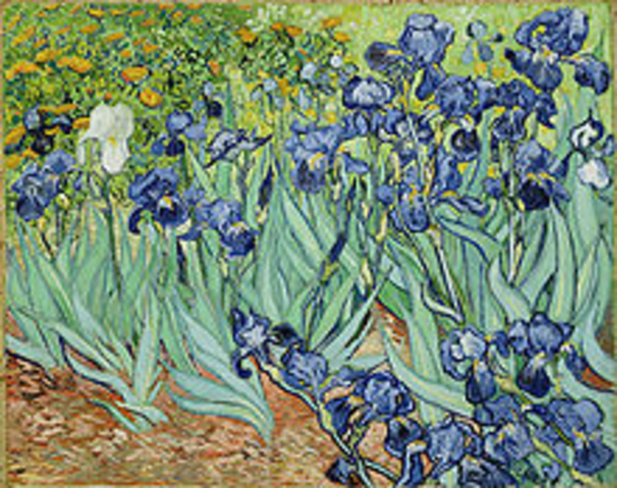 A painting of Van Gogh on Iris