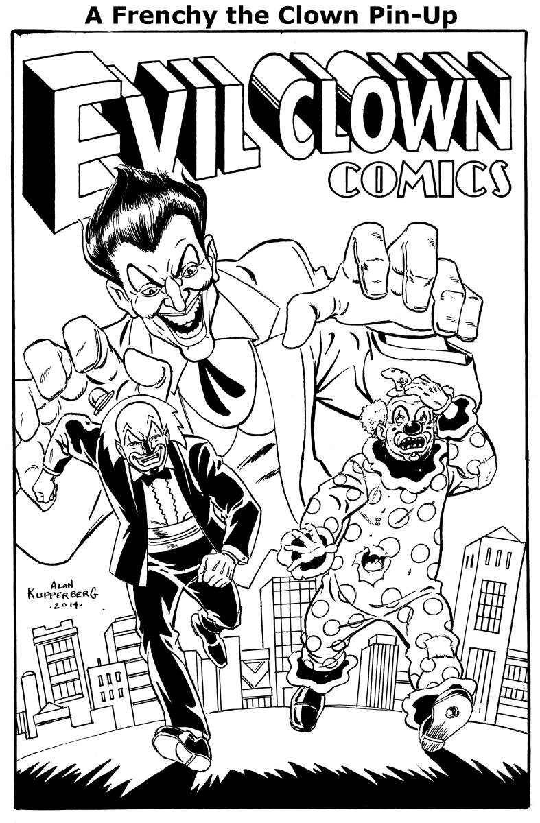 A trio of evil clowns