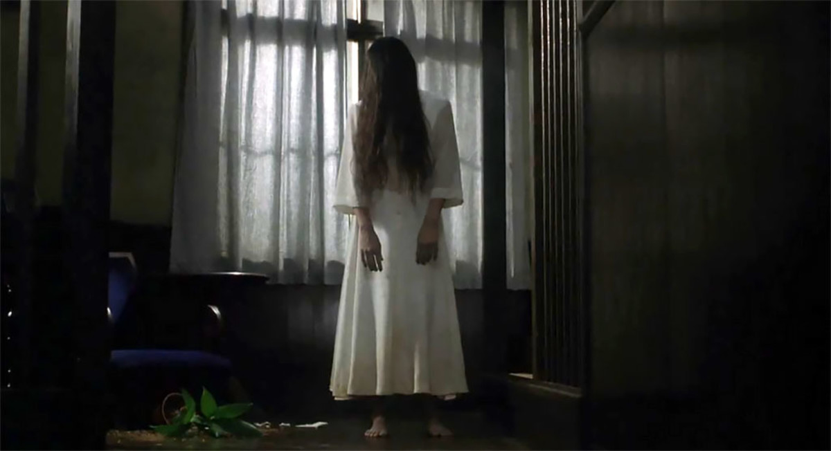 She looks harmless when standing still this way. But don't be mistaken. Sadako is the undisputed queen of Japanese horror movies.