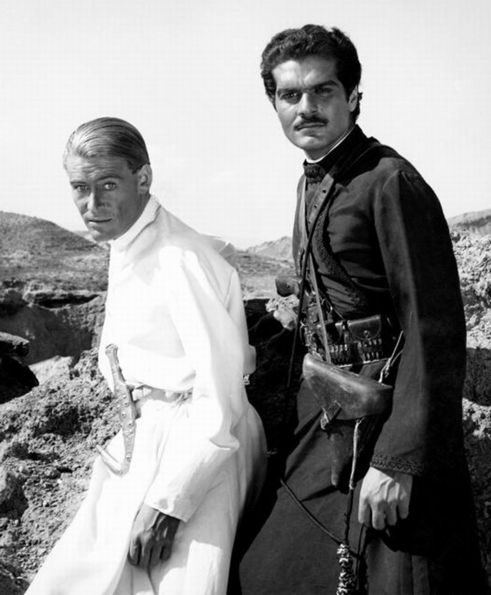 Peter O'Toole with Omar Sharif