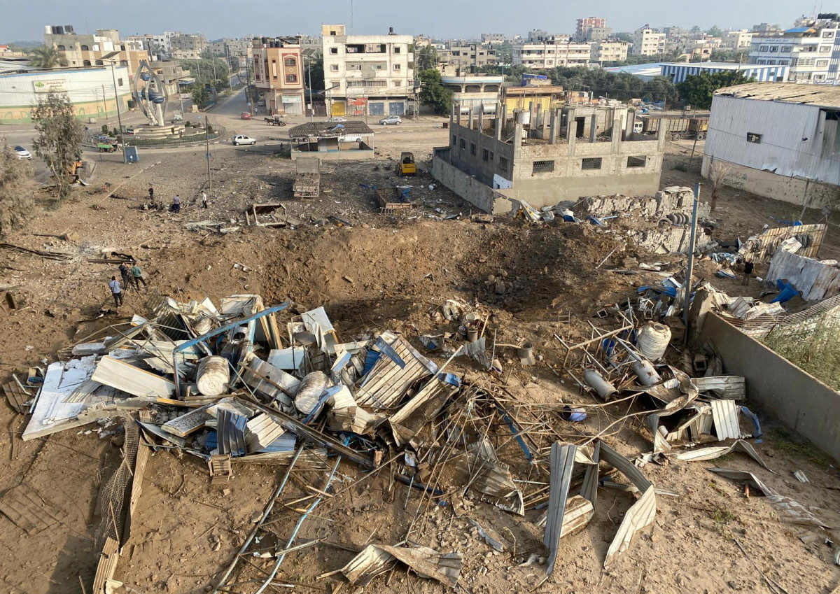 Ruins in Gaza after Israel Bombing