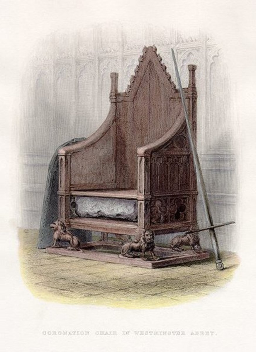 The throne and stone in 1859.