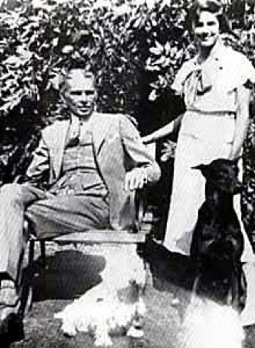 Founding father, Mohammad Ali Jinnah, with his daughter and two dogs.