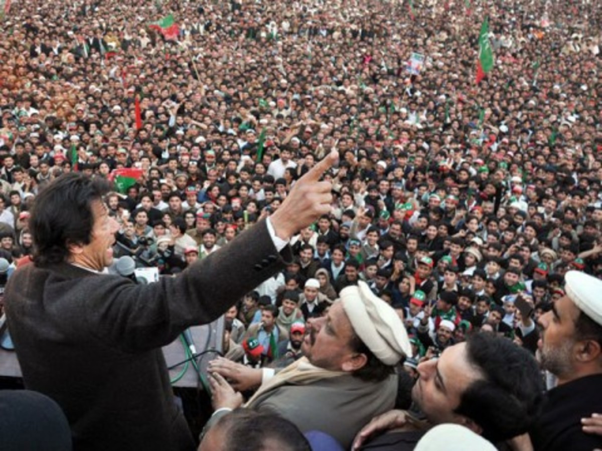 Imran Khan has the ability to gather huge crowd. He is the voice of youth and of 'Change'.