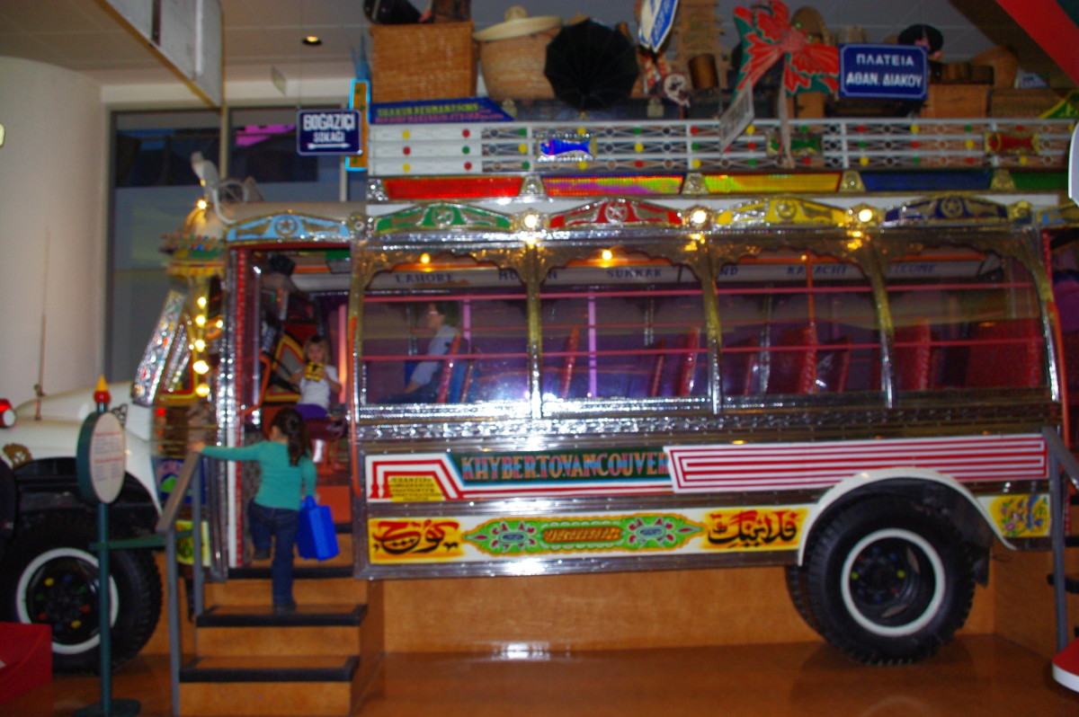 Pakistani bus and truck art, such as the one on this mini-bus exhibited at the Museum of Civilization in Ottawa, is getting attention all over the world.