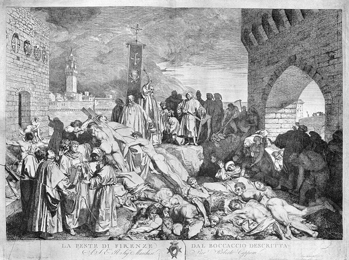 The plague of Florence in 1348. Black death took the lives of 1/3rd of Europeans.