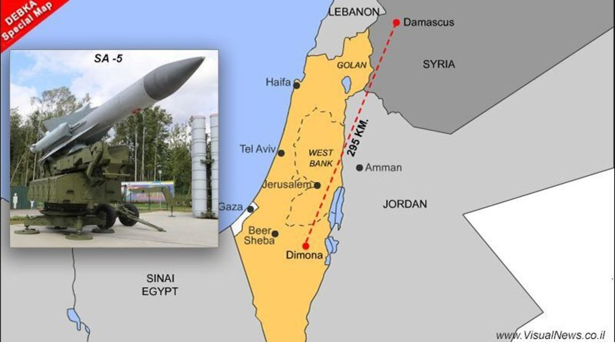 Syrian Missile Targets Israeli Nuclear Site