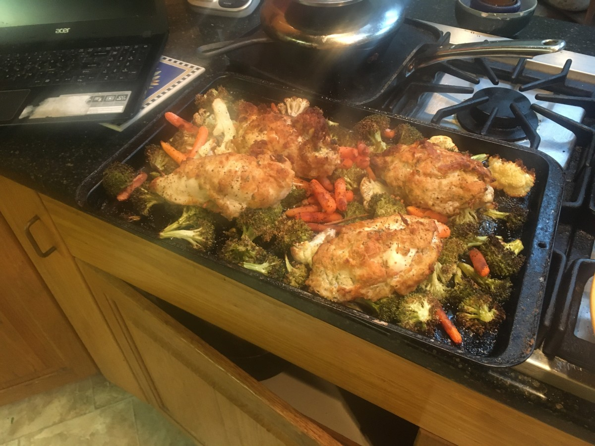 oven-baked-chicken-kiev-on-a-bed-of-vegetables-recipe