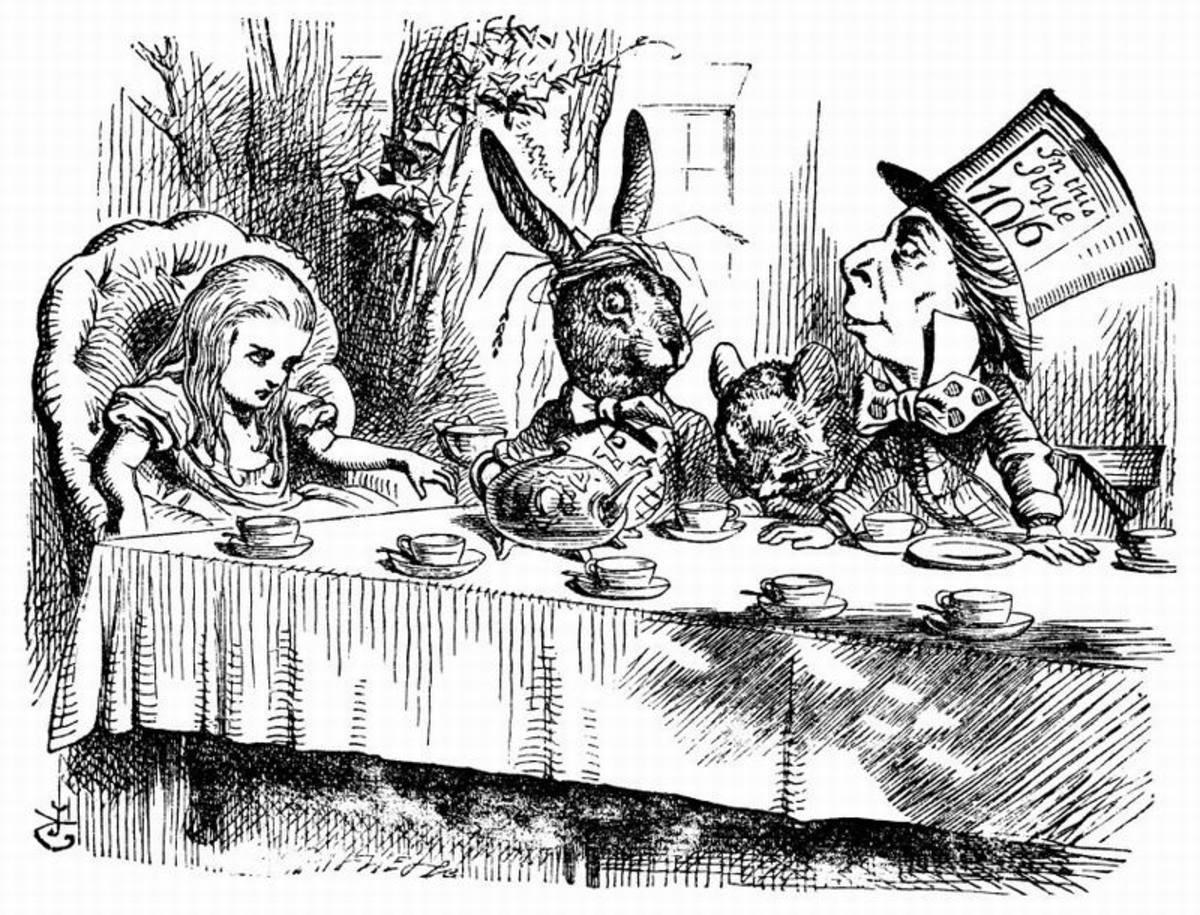 The Mad Tea Party- illustration by John Tenniel