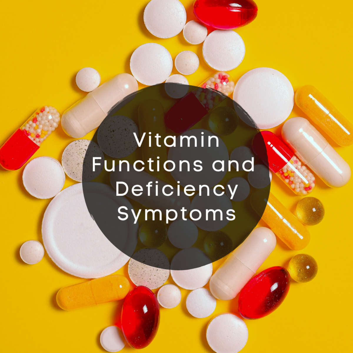 Here is an overview of the functions of vitamins, symptoms of vitamin deficiency, and natural sources.