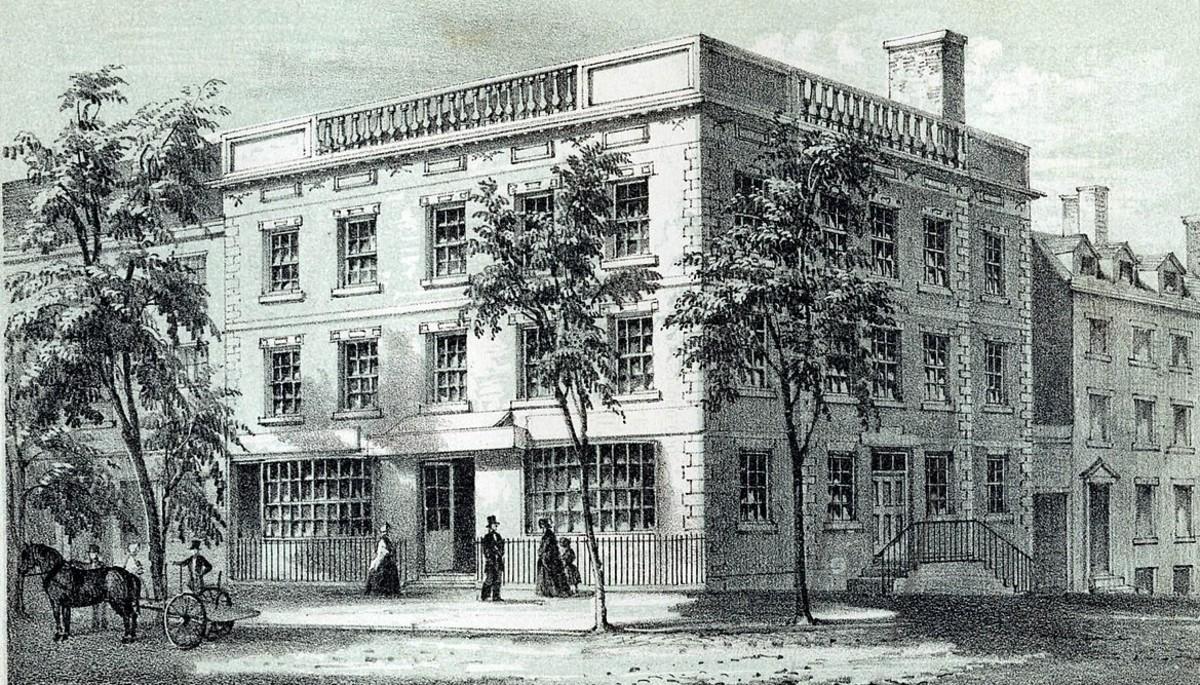 "First ""President's House"" on Cherry Street in Manhattan, New York City."