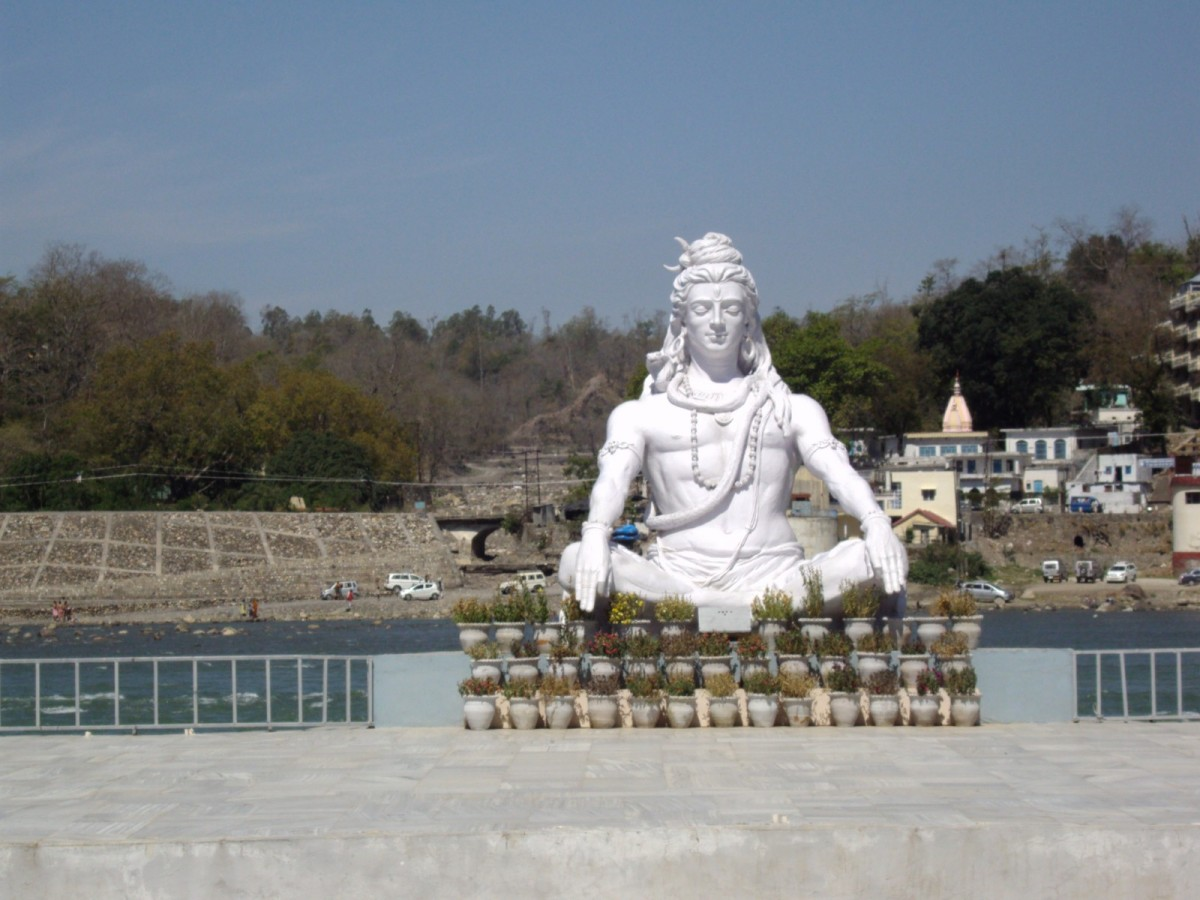 Statue of Shiva in Haridwar, 2009 - Before the Devastating Flood in 2013.