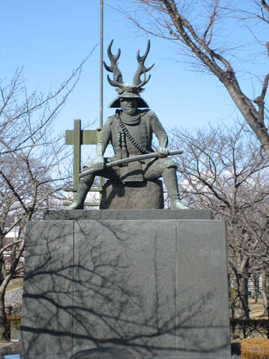 A statue of Tadakatsu Honda
