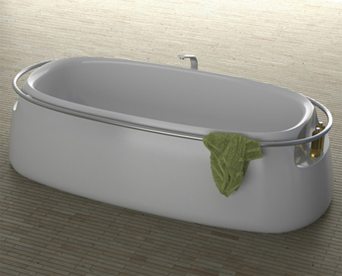 A beautiful white bathroom tub can harbor bacteria