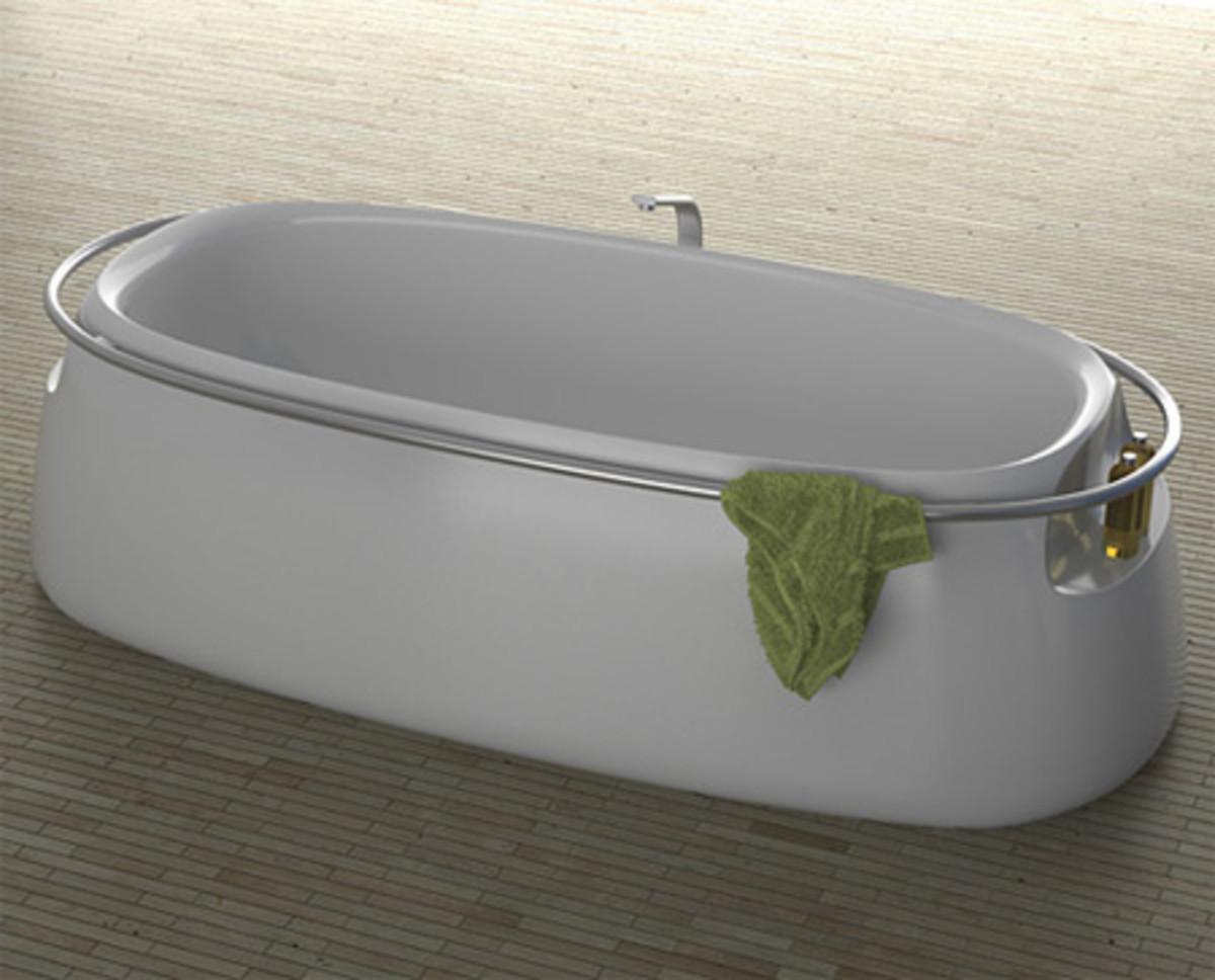 A beautiful white bathroom tub can harbor bacteria