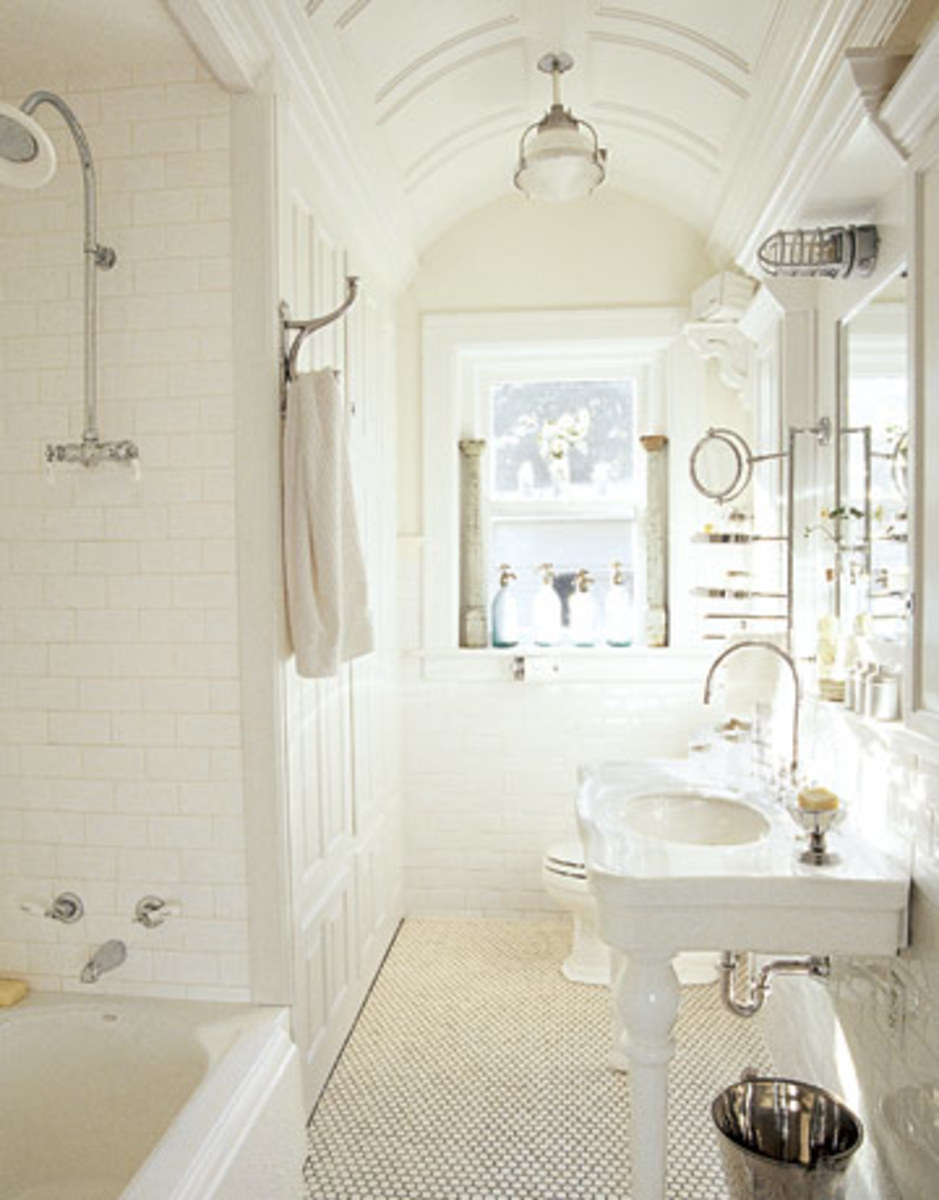 A beautiful white bathroom can harbor bacteria