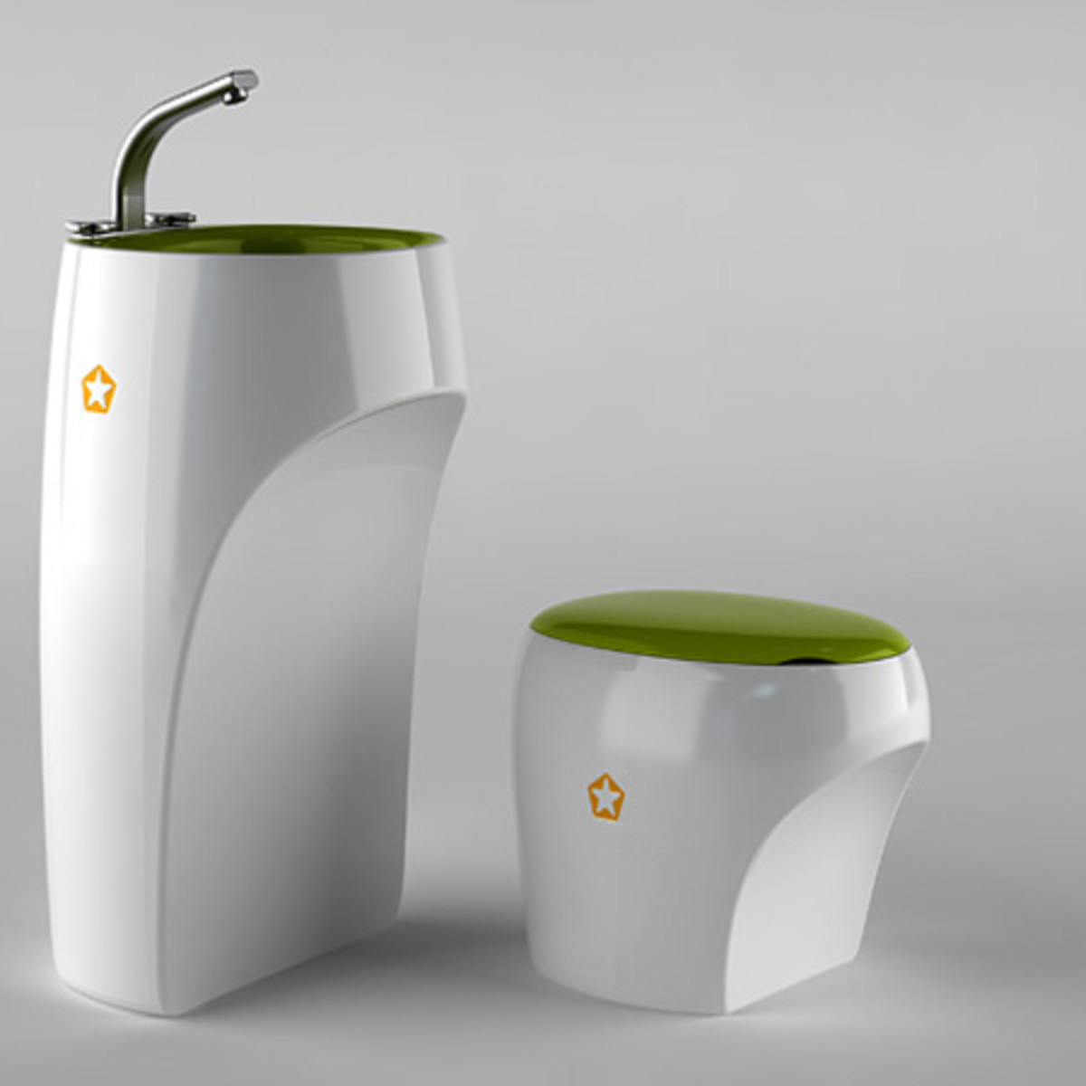A beautiful white bathroom set can harbor bacteria