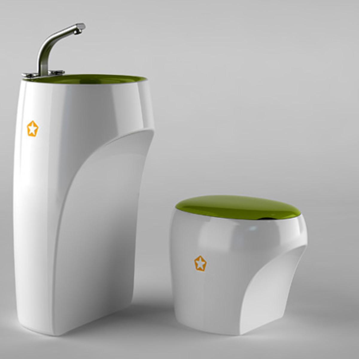 A beautiful white bathroom set can harbor bacteria