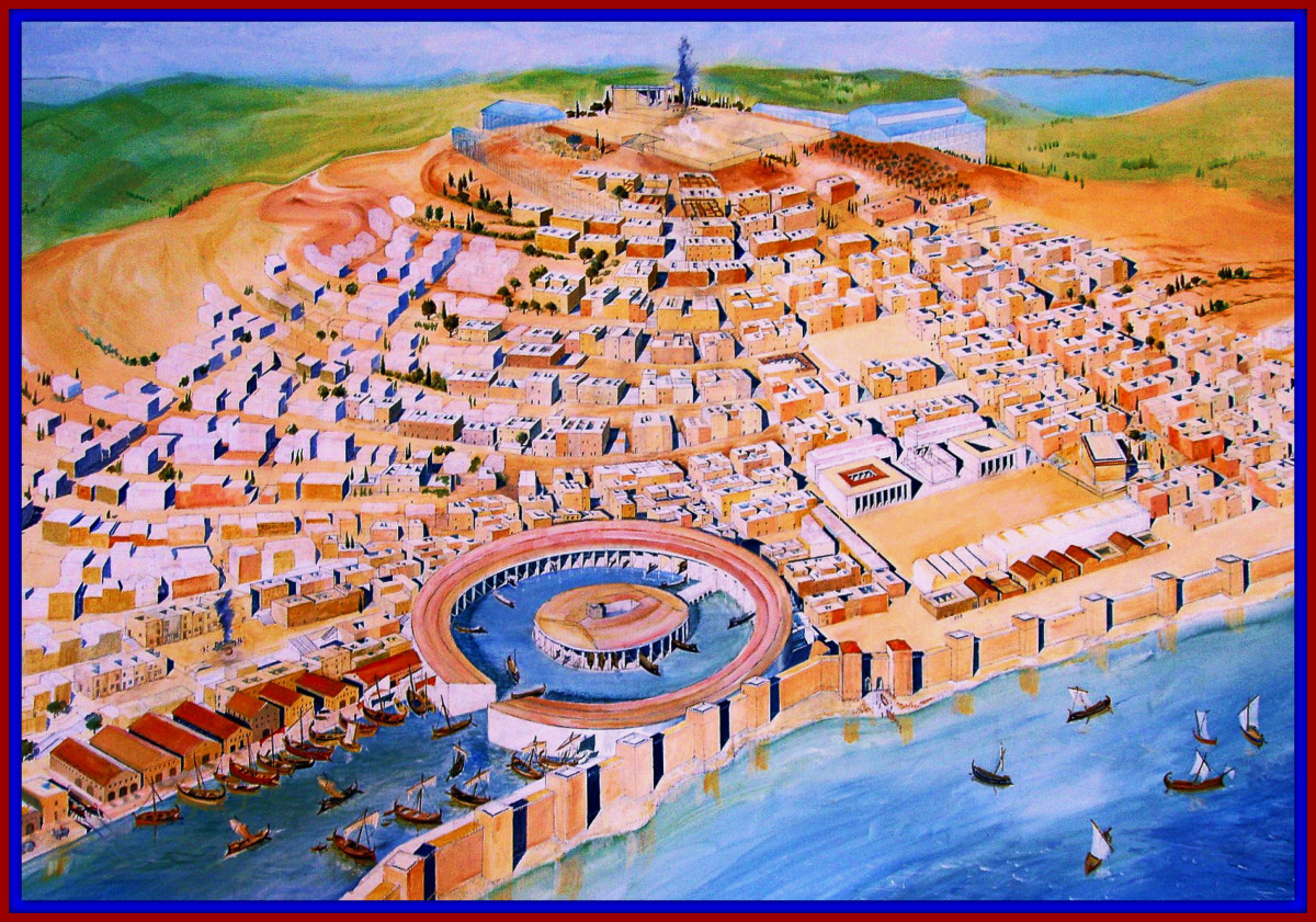 Artist Rendering of Carthage before the Start of the First Punic War