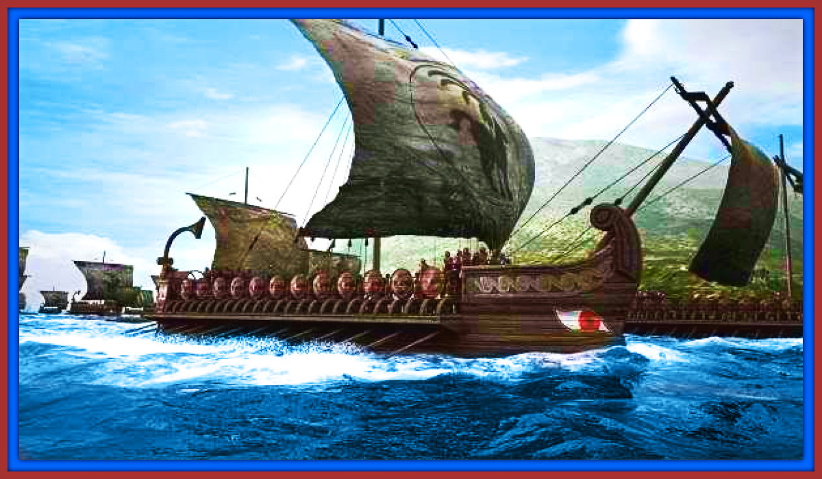 Carthaginian War Ships Heading out to Battle