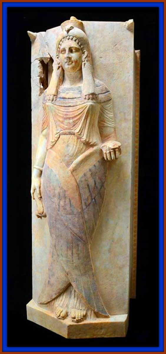 This Carthaginian Winged Lady, Sarcophagus Lid. Another treasure of the ancient Carthaginian civilization.