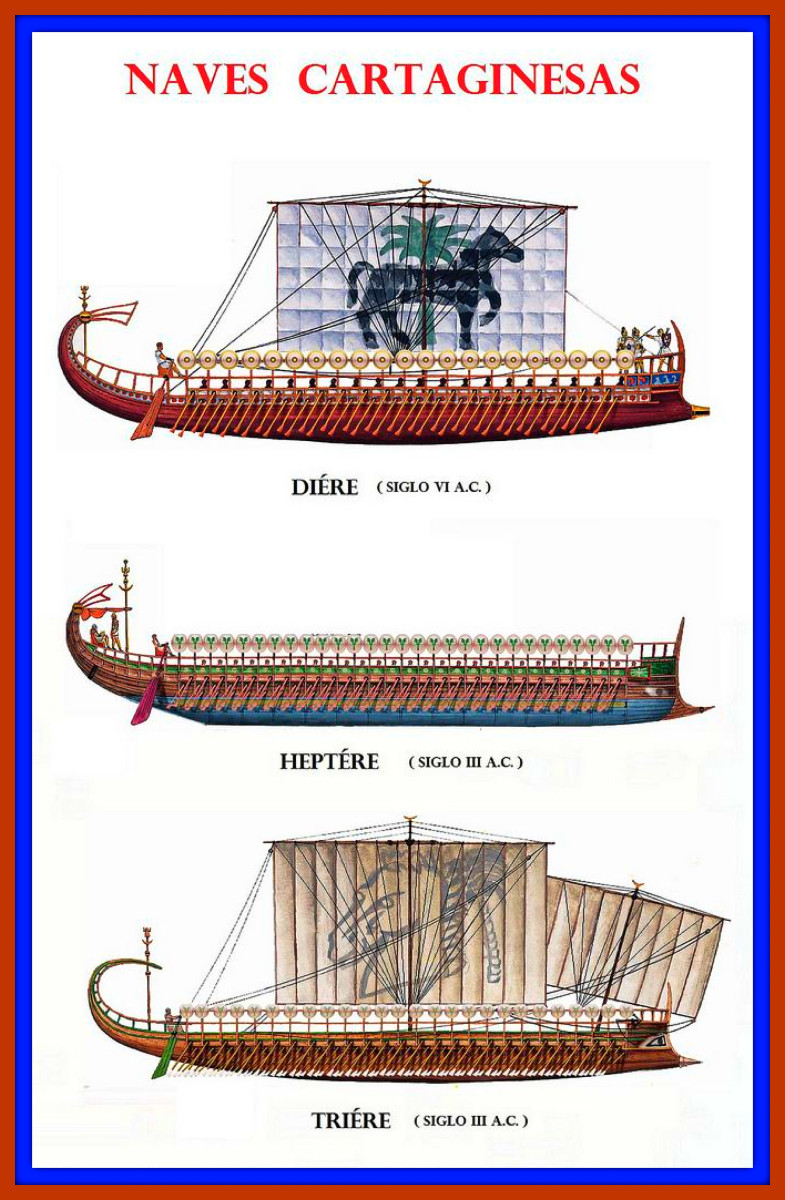 Three Styles of Carthaginian Ships in her Fleet during Her Punic Era before the Roman Conquest