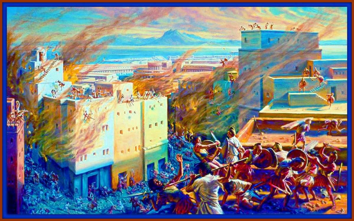 The Romans destroyed their city, burned it to the ground and poured salt on the land so nothing would grow. Took 50,000 women and children as slaves, and kill over 250,000 of the rest of the city inhabitants.
