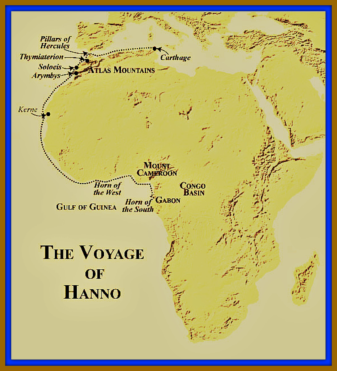 The Map of Hanno the Navigator, Showing the Route He Traveled