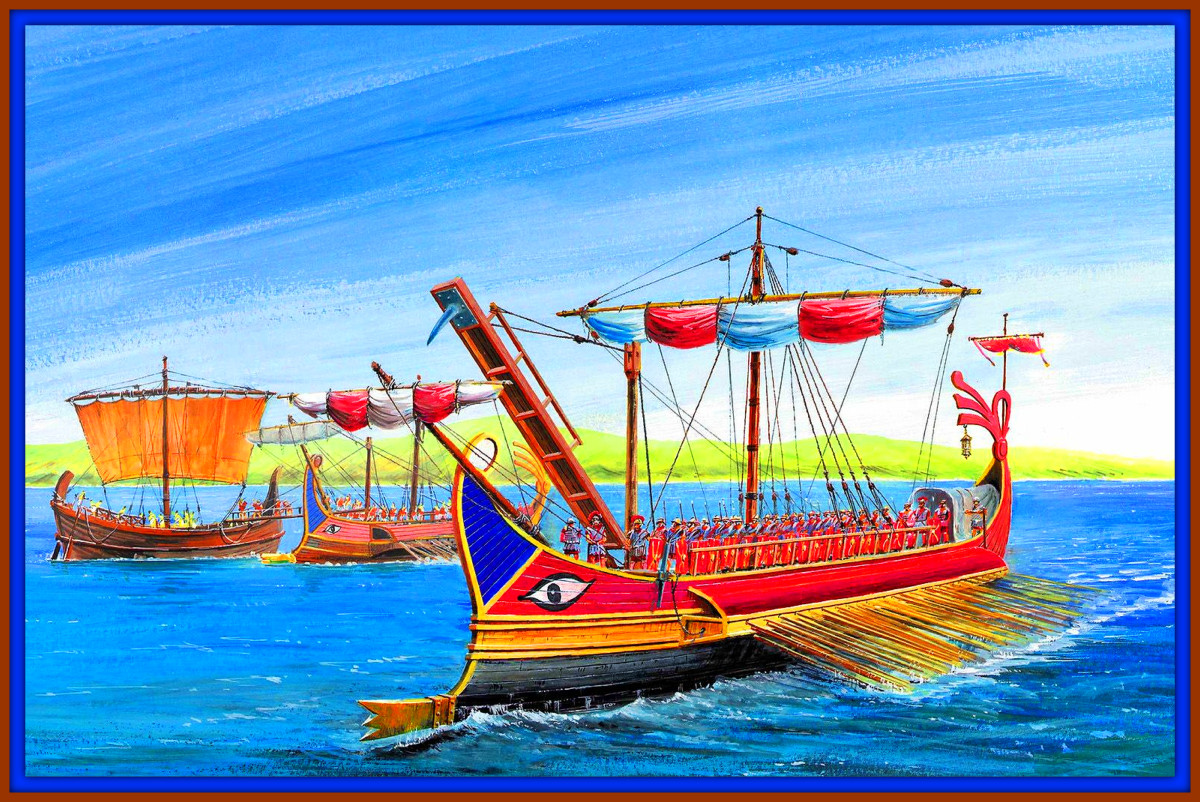 Carthaginian Ships were brightly colored and Built for Long Sea Journeys