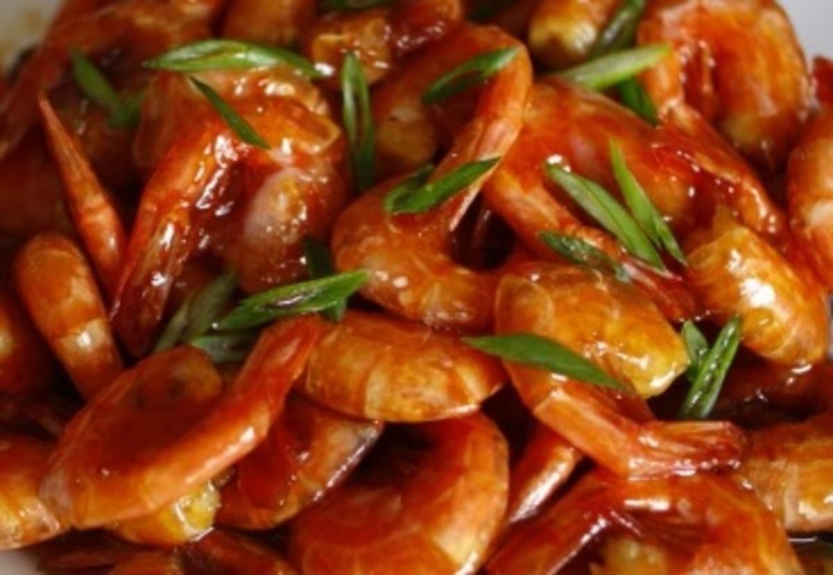 Shrimp in Tamarind Sauce (Tom Rang Me)
