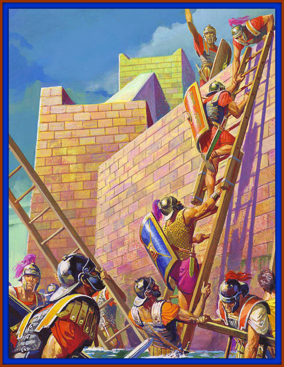 The Roman General Scipio Finding ways to Breach the Walls of Noble Carthage