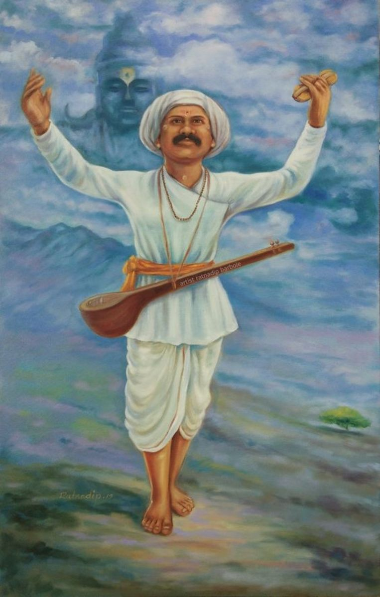 He is really a great saint in Maharashtra. He composed many abhangas on various issue.