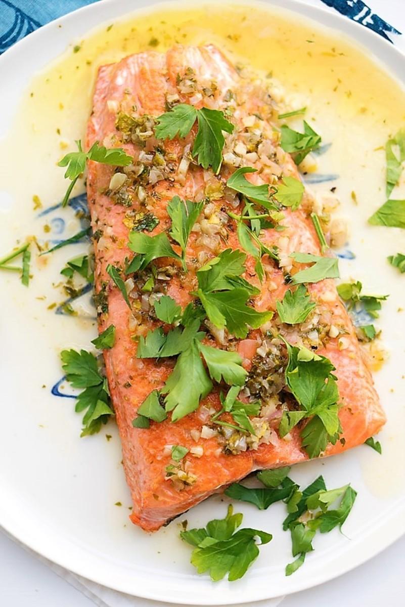 Salmon Scampi